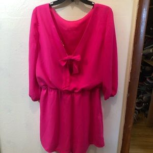 Bright pink short romper new without tags